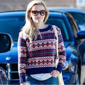 J. Crew boxy Fair isle lambswool sweater